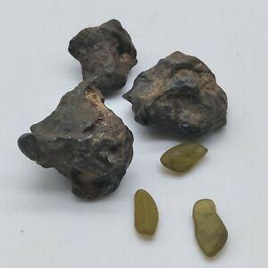 Natural Kenya Sericho Pallasite Meteorite Original Stone 19.5G Collection a SET
