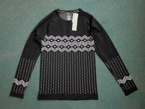 title nine, long sleeve, black, white, gray athletic top, Girls' Size L, NWT