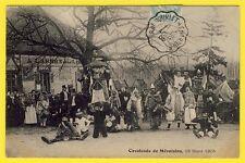 cpa RARE 28 - CAVALCADE Fête de MÉVOISINS (Eure et Loir) Épicerie Arbre Liberté