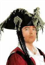 Pirata Tricornio Sombrero grufti Halloween Traje Disfraz de pirata pirata NUEVO