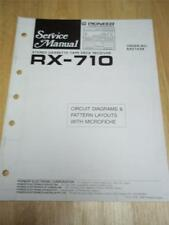 Pioneer Service Manual~RX-710 Cassette Deck Receiver~Original~w/fiche~Repair