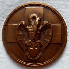 Médaille PÉLICAN CROIX ROUGE BELGIQUE OBSOLÈTE BELGIUM RED CROSS BRONZE MEDAL