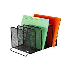 New File Folder Organizer Storage Rack 5 Sorter Desktop Letter Metal Office Home