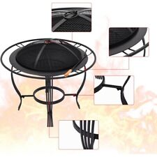 New listing � Home use Fire Pit Metal Backyard Patio Garden Stove Fireplace With Poker