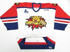 MONCTON WILDCATS QMJHL AUTHENTIC PRO WHITE CCM HOCKEY JERSEY SIZE 54