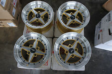 "JDM 01 Style 15"" 100x4 staggered wheels miata roadster mx5 civic work equip rims"