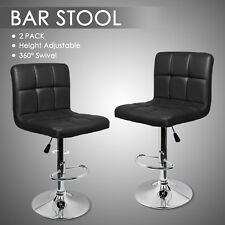 2 Bar Stools Swivel Kitchen Breakfast Barstools Chair PU Leather Chrome Gas Lift