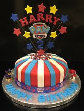 Paw Patrol Ribbon & Cake Topper Personalised with HARRY & 2