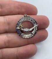 """Vintage CREA 925 Sterling Silver California Roadrunner Charm Pendant ~3.0g 1"""""""