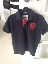 ABERCROMBIE & FITCH KIDS Navy Blue 100% Cotton Logo Polo Shirt Sz:XL Muscle