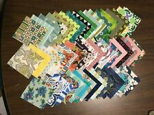 """Quilting Quality Cotton Fabric 3"""" Squares, Assorted Patterns & Colors, Charms"""