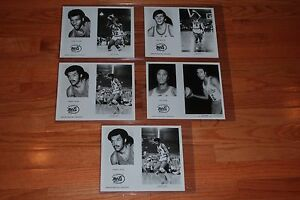 1971-72 NY Nets ABA Team Issued Original B&W Basketball Player Photos-5 total