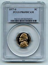1977 S 5C Jefferson Nickel Proof PCGS PR69DCAM