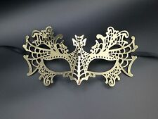 Metal Venetian Gold Masquerade Mask Laser Cut Filigree Ball Prom Halloween MK2G
