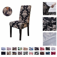 2/4/6PCS Dining Chair Seat Covers Slip Stretch Wedding Banquet Party Removable