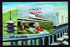 Umm al Qiwain 1972 ** Bl.37 Eisenbahn Railway Trains 3D