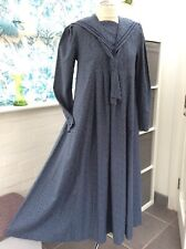 Laura Ashley dress blue Victorian sailor collar  vintage  size 12