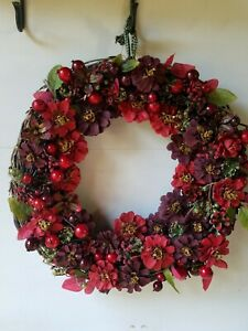 Winter Red Berry Pine Cone Wreath