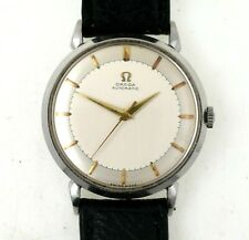 1952 Omega Automatic Wrist Watch W/ Staybrite Steel Case EXCELLENT