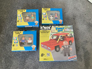 KNEX 2013 Family Guy Figure Packs And Car Vehicle Lot All In Boxes