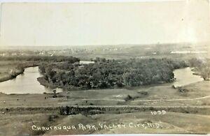 VTG June 1934 Chautauqua Park, Valley City, N.D. 1039 Black & White Postcard P82