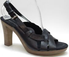 Enzo Angiolini Black Leather Open Toe Slingback Sandal Pump 8M 8 MSRP $99 NEW