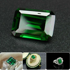 30ct Natural Mined Green Loose Gemstone Emerald Colombia Emerald Cut AAAAAAA+