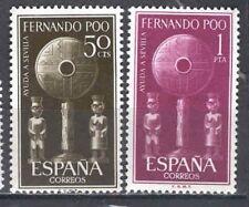 FERNANDO POO  Edifil # 213/214 ** Ayuda a Sevilla