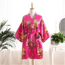 2018 Floral SATIN BRIDEMAID robes gowns BRIDE bath robe wedding kimono ROBES