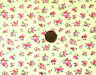 LEMON WITH TINY POSIES OF PINK & BLUE FLOWERS - 100% COTTON FABRIC FQ'S