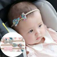 3pcs/set Baby Soft Headband Bow Traceless Nylon Headband Infant Decoration~
