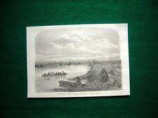 Gravure année 1860 l'embouchure du Phase à Poti, Georgia