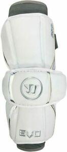 Warrior Mens Evo Lacrosse Arm Guards Size L White EAG17 Lax Protective Gear
