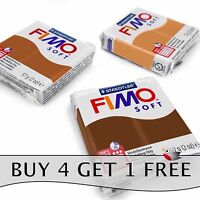 FIMO Soft Polymer Oven Modelling Clay - 57g - Set of 3 - Choc, Cognac & Caramel