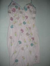 Apart Kleid Gr. 38 M Pailletten Stickerei Blumen rosa  *neu ohne Etikett*