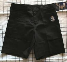 Dickies Girl Junior L Pocket Shorts Black Stretch Work School Uniform Kr711