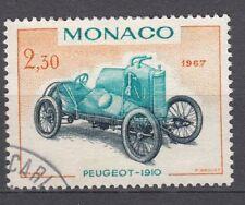 TIMBRE MONACO OBL N° 721   VOITURE DE VAINQUEURS GRAND PEUGEOT 1910