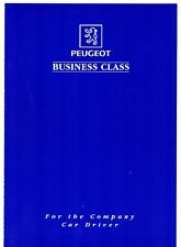 Peugeot Business Class Club 1996 UK Market Foldout Brochure & Application Form