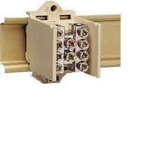 HAGER K018,Lot 3 Bloc Barrette Bornes Jonction Modulaire, 25--16 mm²,Répartiteur
