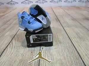 BRAND NEW Air Jordan Retro 4 IV TD University Blue Toddler Baby Shoes size 2C