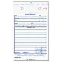 """Rediform Job Work Order Book, 5 1/2 X 8.5, Two Part Carbonless, 50/book"""
