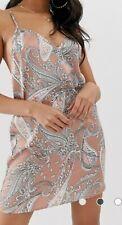 Boohoo Cami Mini Dress with cross back