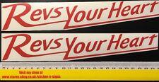255mm Rojo 2x Adhesivos Calcomanías las revisiones tu corazón Adecuado Para Yamaha Bicicleta
