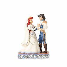 JIM SHORE DISNEY Figurine PRINCESS WEDDING Statue ARIEL & ERIC Little Mermaid