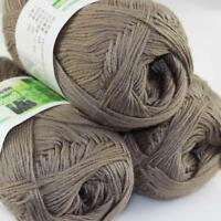 Sale New 3 Skeinsx 50g Soft Bamboo Cotton Baby Hand Knit  Shawls Crochet Yarn 32