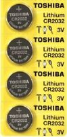 4 x New Original Toshiba CR2032 CR 2032 3V LITHIUM BATTERY BR2032 DL2032 Remote