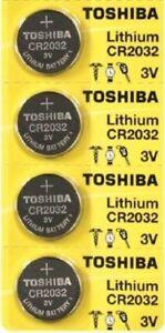 4 x New Original Toshiba CR2032 CR 2032 3V LITHIUM BATTERY BR2032 DL2032 Remote