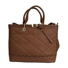 Handbag Dark Brown tote with Stitched Effect And Long Strap By Papaya uk