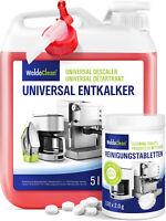 Entkalker 5 Liter & 150x Reinigungstabletten für Kaffeevollautomaten