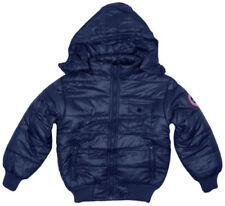 Veste classique de neige bleues avec capuche pour garçon de 2 à 16 ans
